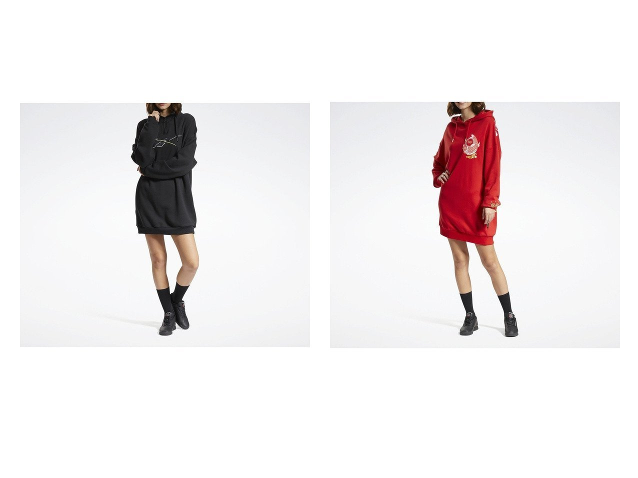 【Reebok/リーボック】のフーディー ドレス Hoodie Dress&クラシックス CNY フーデッド ドレス Classics CNY Hooded Dress ワンピース・ドレスのおすすめ!人気、トレンド・レディースファッションの通販 おすすめで人気の流行・トレンド、ファッションの通販商品 メンズファッション・キッズファッション・インテリア・家具・レディースファッション・服の通販 founy(ファニー) https://founy.com/ ファッション Fashion レディースファッション WOMEN ワンピース Dress ドレス Party Dresses ショルダー トレンド ドレス ドロップ ドローコード フレンチ 定番 Standard グラフィック シェイプ ビッグ ポケット ロング |ID:crp329100000016434