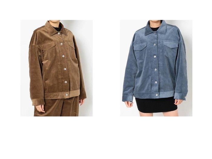 【EVRIS/エヴリス】のEVRIS カラーコーデュロイルーズブルゾン【セットアップ着用可能】 おすすめ人気トレンド・レディースファッション通販  おすすめファッション通販アイテム レディースファッション・服の通販 founy(ファニー)  ファッション Fashion レディースファッション WOMEN アウター Coat Outerwear ブルゾン Blouson Jackets 2021年 2021 2021 春夏 S/S SS Spring/Summer 2021 S/S 春夏 SS Spring/Summer コーデュロイ セットアップ ビッグ ブルゾン ランダム 春 Spring |ID:crp329100000016496