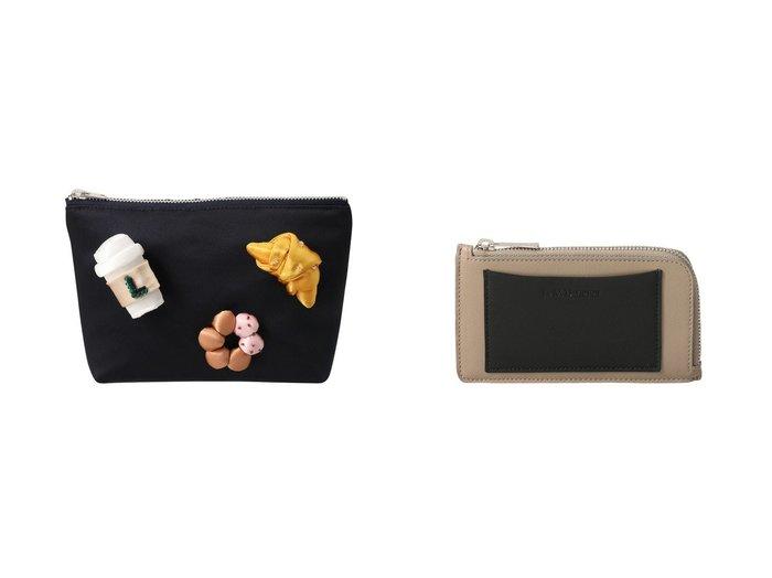 【J&M DAVIDSON/ジェイアンドエム デヴィッドソン】のZIP CARD HOLDER BI-COLOUR&【LUDLOW/ラドロー】の【ELLE SHOP限定】Coffee Break ポーチ おすすめ!人気、トレンド・レディースファッションの通販  おすすめファッション通販アイテム レディースファッション・服の通販 founy(ファニー) ファッション Fashion レディースファッション WOMEN ポーチ Pouches カードケース/名刺入れ Card Cases 2021年 2021 2021 春夏 S/S SS Spring/Summer 2021 S/S 春夏 SS Spring/Summer ハンド ポーチ モチーフ 人気 春 Spring |ID:crp329100000016528