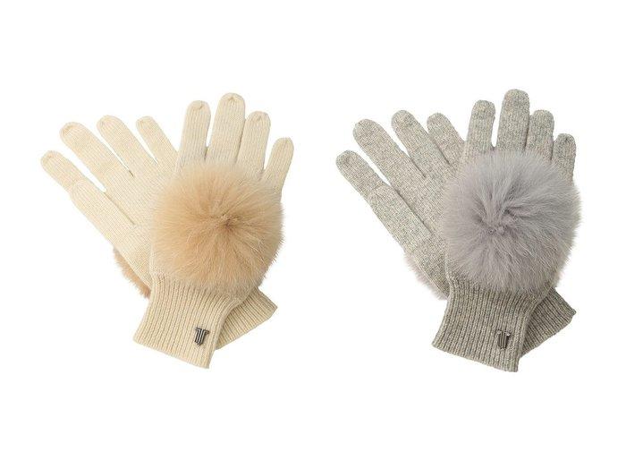 【LANVIN en Bleu/ランバン オン ブルー】のファーポンポン手袋 おすすめ!人気、トレンド・レディースファッションの通販  おすすめファッション通販アイテム レディースファッション・服の通販 founy(ファニー) ファッション Fashion レディースファッション WOMEN 手袋 Gloves A/W 秋冬 AW Autumn/Winter / FW Fall-Winter フェミニン プレート 防寒  ID:crp329100000016530