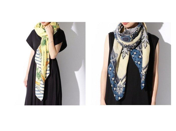 【Demi-Luxe BEAMS/デミルクス ビームス】のフルール ストール&コラージュレリーフ ストール おすすめ!人気、トレンド・レディースファッションの通販  おすすめファッション通販アイテム レディースファッション・服の通販 founy(ファニー) ファッション Fashion レディースファッション WOMEN インド シルク スカーフ ストール パターン ミックス モチーフ 人気 |ID:crp329100000016540