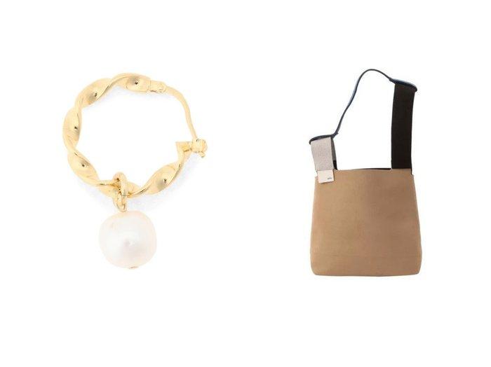 【zattu/ザッツ】のCONCH MULTI-1&【LOUISE DAMAS/ルイーズダマス】のSuzanne Hoop earrings おすすめ!人気、トレンド・レディースファッションの通販  おすすめファッション通販アイテム インテリア・キッズ・メンズ・レディースファッション・服の通販 founy(ファニー) https://founy.com/ ファッション Fashion レディースファッション WOMEN ジュエリー Jewelry リング Rings イヤリング Earrings アクセサリー イヤリング パール フープ アシンメトリー ショルダー シンプル フェルト |ID:crp329100000016592