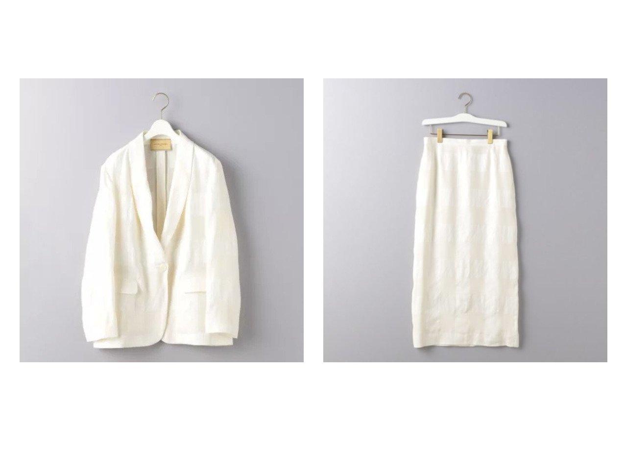 【UNITED ARROWS/ユナイテッドアローズ】のUGCM チェック柄 ショールカラー ジャケット&UGCM チェック柄 タイトスカート UNITED ARROWSのおすすめ!人気、トレンド・レディースファッションの通販 おすすめで人気の流行・トレンド、ファッションの通販商品 メンズファッション・キッズファッション・インテリア・家具・レディースファッション・服の通販 founy(ファニー) https://founy.com/ ファッション Fashion レディースファッション WOMEN アウター Coat Outerwear ジャケット Jackets スカート Skirt エレガント クラシック ショール ジャケット セットアップ チェック カットソー タイトスカート マキシ ロング |ID:crp329100000016609