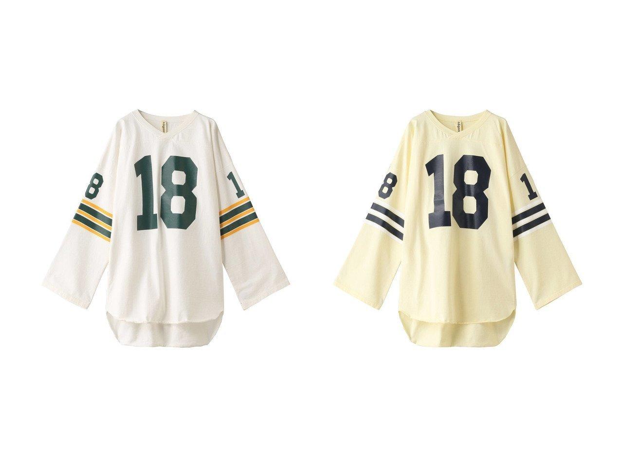 【nagonstans/ナゴンスタンス】のHeavy Jersey Football ロングTシャツ nagonstansのおすすめ!人気、トレンド・レディースファッションの通販 おすすめで人気の流行・トレンド、ファッションの通販商品 メンズファッション・キッズファッション・インテリア・家具・レディースファッション・服の通販 founy(ファニー) https://founy.com/ ファッション Fashion レディースファッション WOMEN トップス Tops Tshirt シャツ/ブラウス Shirts Blouses ロング / Tシャツ T-Shirts カットソー Cut and Sewn 2021年 2021 2021 春夏 S/S SS Spring/Summer 2021 S/S 春夏 SS Spring/Summer スポーティ スリーブ ロング 春 Spring 長袖 |ID:crp329100000016660