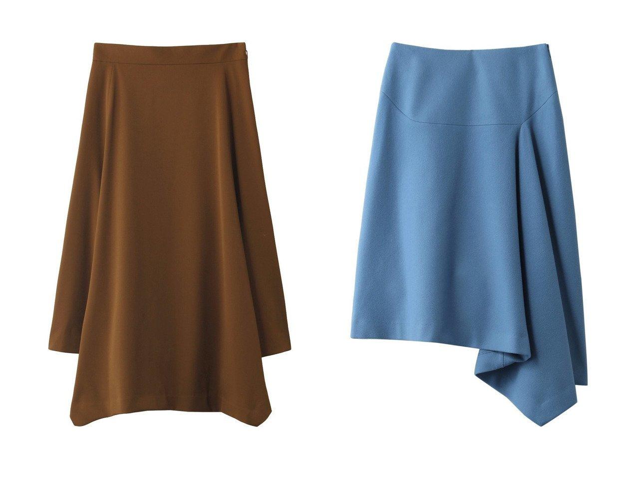 【heliopole/エリオポール】のストレッチギャバ 台形ヘムスカート&メルトンアシンメトリーヘムスカート heliopoleのおすすめ!人気、トレンド・レディースファッションの通販 おすすめで人気の流行・トレンド、ファッションの通販商品 メンズファッション・キッズファッション・インテリア・家具・レディースファッション・服の通販 founy(ファニー) https://founy.com/ ファッション Fashion レディースファッション WOMEN スカート Skirt ロングスカート Long Skirt シンプル ヘムライン ロング 台形 アシンメトリー イレギュラーヘム トレンド フレア フロント メルトン  ID:crp329100000016725