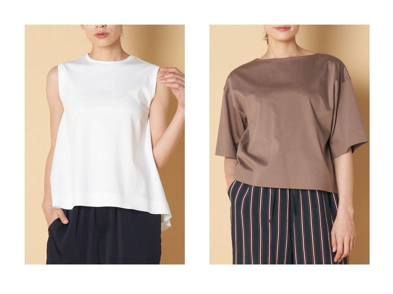 【heliopole/エリオポール】のスムースビッグTシャツ&スムースクルーネックノースリーブプルオーバー heliopoleのおすすめ!人気、トレンド・レディースファッションの通販 おすすめで人気の流行・トレンド、ファッションの通販商品 メンズファッション・キッズファッション・インテリア・家具・レディースファッション・服の通販 founy(ファニー) https://founy.com/ ファッション Fashion レディースファッション WOMEN トップス Tops Tshirt キャミソール / ノースリーブ No Sleeves シャツ/ブラウス Shirts Blouses ロング / Tシャツ T-Shirts プルオーバー Pullover カットソー Cut and Sewn キャミソール タンク ノースリーブ フレア ボンディング 人気 定番 Standard  ID:crp329100000016732