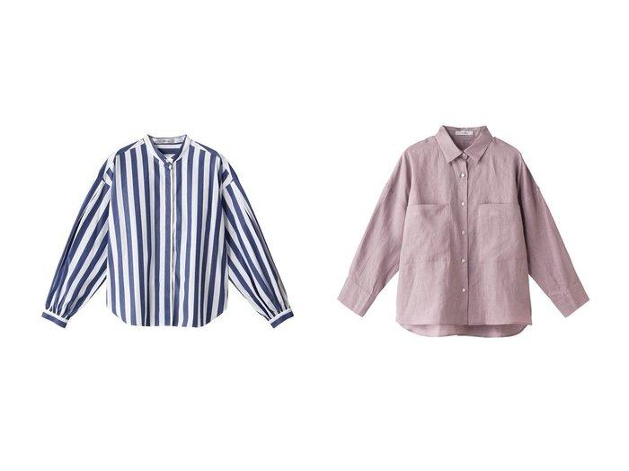 【heliopole/エリオポール】のコットンタイプライタータックスリーブブラウス&リネンビッグシャツ heliopoleのおすすめ!人気、トレンド・レディースファッションの通販 おすすめファッション通販アイテム レディースファッション・服の通販 founy(ファニー) ファッション Fashion レディースファッション WOMEN トップス Tops Tshirt シャツ/ブラウス Shirts Blouses スタンド ストライプ スリーブ ビッグ プリント ロング ワイド シンプル リネン 人気 |ID:crp329100000016756