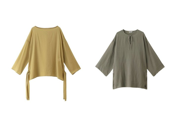 【heliopole/エリオポール】のウォッシャブルサイドリボンシアーブラウス&リネンキーネックチュニック heliopoleのおすすめ!人気、トレンド・レディースファッションの通販 おすすめファッション通販アイテム レディースファッション・服の通販 founy(ファニー) ファッション Fashion レディースファッション WOMEN トップス Tops Tshirt シャツ/ブラウス Shirts Blouses ウォッシャブル シアー スリーブ トレンド リボン ロング チュニック ワイド 今季 |ID:crp329100000016758