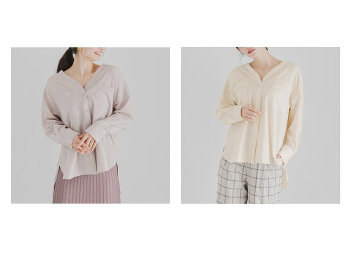【SENSE OF PLACE / URBAN RESEARCH/センス オブ プレイス】のノーカラーアウトポケットルーズシャツ URBAN RESEARCHのおすすめ!人気、トレンド・レディースファッションの通販  おすすめファッション通販アイテム レディースファッション・服の通販 founy(ファニー) ファッション Fashion レディースファッション WOMEN トップス Tops Tshirt シャツ/ブラウス Shirts Blouses ボトム リラックス 春 Spring |ID:crp329100000016793