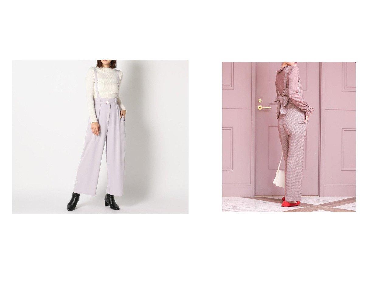【Mew's/ミューズ】のミューズ MEW S ウォッシャブルイージーサスツキワイドパンツ&【fifth/フィフス】のチェック柄ビスチェ付きパンツセットアップ パンツのおすすめ!人気、トレンド・レディースファッションの通販  おすすめで人気の流行・トレンド、ファッションの通販商品 メンズファッション・キッズファッション・インテリア・家具・レディースファッション・服の通販 founy(ファニー) https://founy.com/ ファッション Fashion レディースファッション WOMEN パンツ Pants セットアップ Setup パンツ Pants 2021年 2021 2021 春夏 S/S SS Spring/Summer 2021 S/S 春夏 SS Spring/Summer サスペンダー トレンド ハイネック フォルム ワイド 春 Spring |ID:crp329100000016822