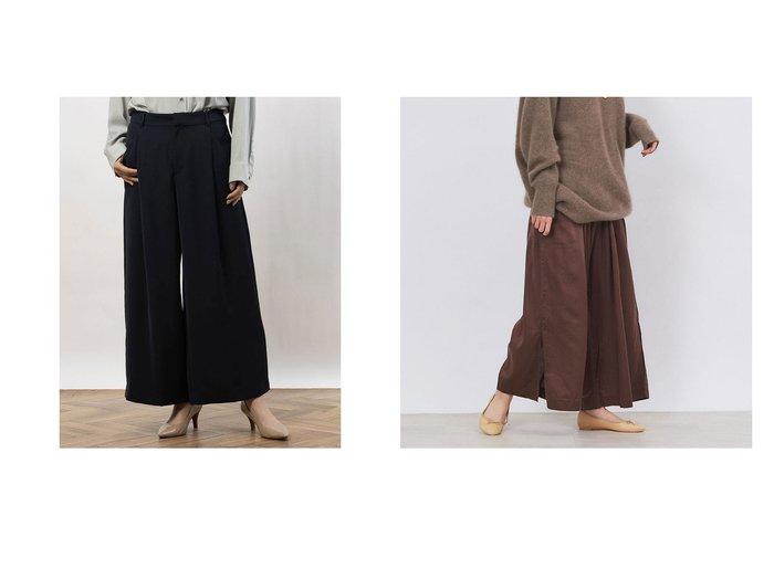 【Rouge vif la cle/ルージュヴィフラクレ】の【enrica】イージーパンツ&【COMME CA ISM/コムサイズム】のタック入り ワイドパンツ パンツのおすすめ!人気、トレンド・レディースファッションの通販  おすすめファッション通販アイテム レディースファッション・服の通販 founy(ファニー) ファッション Fashion レディースファッション WOMEN パンツ Pants 2020年 2020 2020-2021 秋冬 A/W AW Autumn/Winter / FW Fall-Winter 2020-2021 A/W 秋冬 AW Autumn/Winter / FW Fall-Winter なめらか ジャケット セットアップ ツイル ワイド キュプラ スリット リラックス |ID:crp329100000016823