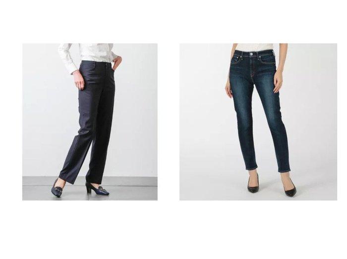 【RED CARD/レッドカード】のAnniversary Highrise&【NEWYORKER/ニューヨーカー】のストレッチシャドーストライプ パンツ パンツのおすすめ!人気、トレンド・レディースファッションの通販  おすすめファッション通販アイテム レディースファッション・服の通販 founy(ファニー) ファッション Fashion レディースファッション WOMEN パンツ Pants アクセサリー インナー オケージョン 春 Spring カットソー ジャケット スタイリッシュ ストライプ ストレッチ ストレート スーツ セットアップ 定番 Standard ベーシック 2021年 2021 S/S 春夏 SS Spring/Summer 2021 春夏 S/S SS Spring/Summer 2021 デニム ハイライズ レギュラー 人気 洗える |ID:crp329100000016831