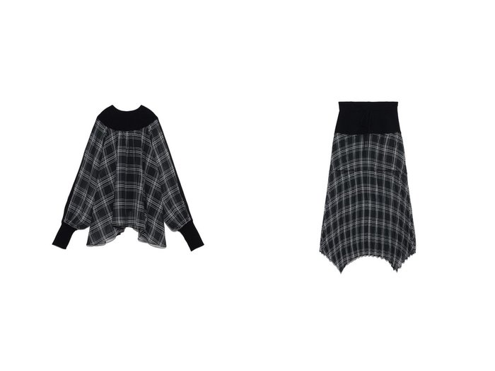 【FURFUR/ファーファー】のシアーチェックコンビスカート&シアーチェックコンビプルオーバー FURFURのおすすめ!人気、トレンド・レディースファッションの通販  おすすめ人気トレンドファッション通販アイテム 人気、トレンドファッション・服の通販 founy(ファニー)  ファッション Fashion レディースファッション WOMEN トップス Tops Tshirt プルオーバー Pullover スカート Skirt アクリル 春 Spring コンビ シアー スマート チェック ドッキング 2021年 2021 S/S 春夏 SS Spring/Summer 2021 春夏 S/S SS Spring/Summer 2021 |ID:crp329100000016854