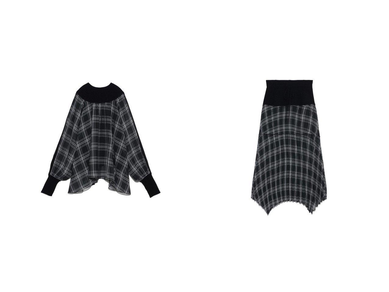 【FURFUR/ファーファー】のシアーチェックコンビスカート&シアーチェックコンビプルオーバー FURFURのおすすめ!人気、トレンド・レディースファッションの通販  おすすめで人気の流行・トレンド、ファッションの通販商品 メンズファッション・キッズファッション・インテリア・家具・レディースファッション・服の通販 founy(ファニー) https://founy.com/ ファッション Fashion レディースファッション WOMEN スカート Skirt トップス Tops Tshirt プルオーバー Pullover アクリル 春 Spring スウェット スマート セットアップ セーター プリーツ 2021年 2021 S/S 春夏 SS Spring/Summer 2021 春夏 S/S SS Spring/Summer 2021 |ID:crp329100000016854