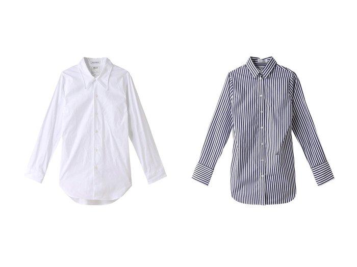 【MADISONBLUE/マディソンブルー】のMADAME コットンストライプシャツ&MADAME コットンローカラーシャツ MADISONBLUEのおすすめ!人気、トレンド・レディースファッションの通販 おすすめファッション通販アイテム レディースファッション・服の通販 founy(ファニー) ファッション Fashion レディースファッション WOMEN トップス Tops Tshirt シャツ/ブラウス Shirts Blouses 2021年 2021 2021 春夏 S/S SS Spring/Summer 2021 S/S 春夏 SS Spring/Summer カフス ストライプ スリーブ ロング 春 Spring |ID:crp329100000016895
