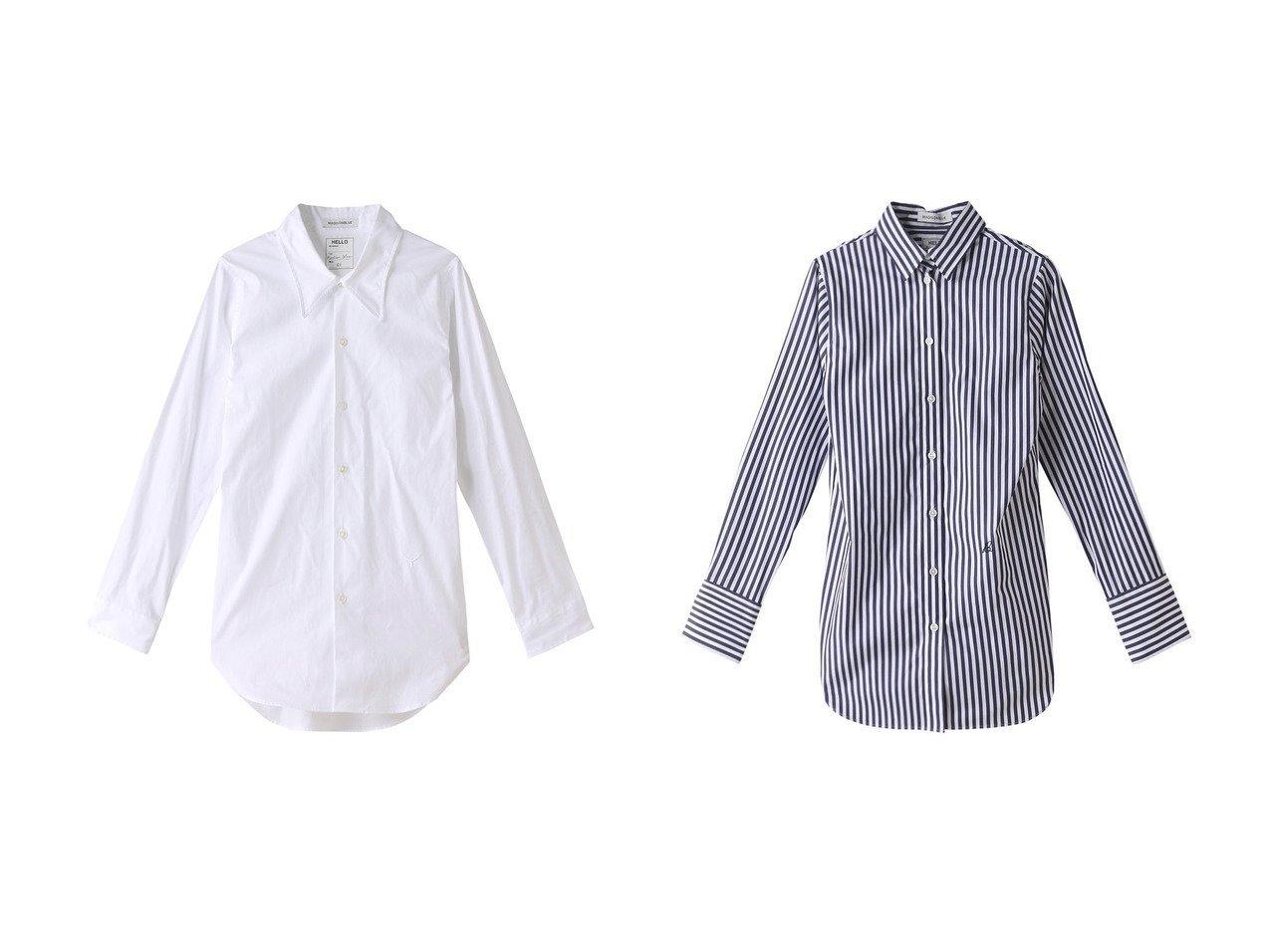【MADISONBLUE/マディソンブルー】のMADAME コットンストライプシャツ&MADAME コットンローカラーシャツ MADISONBLUEのおすすめ!人気、トレンド・レディースファッションの通販 おすすめで人気の流行・トレンド、ファッションの通販商品 メンズファッション・キッズファッション・インテリア・家具・レディースファッション・服の通販 founy(ファニー) https://founy.com/ ファッション Fashion レディースファッション WOMEN トップス Tops Tshirt シャツ/ブラウス Shirts Blouses 2021年 2021 2021 春夏 S/S SS Spring/Summer 2021 S/S 春夏 SS Spring/Summer カフス ストライプ スリーブ ロング 春 Spring |ID:crp329100000016895
