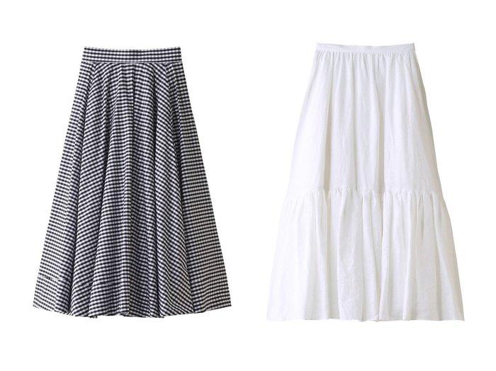 【MADISONBLUE/マディソンブルー】のリネンヘムギャザースカート&ギンガムチェックタックサーキュラースカート MADISONBLUEのおすすめ!人気、トレンド・レディースファッションの通販 おすすめファッション通販アイテム レディースファッション・服の通販 founy(ファニー) ファッション Fashion レディースファッション WOMEN スカート Skirt ロングスカート Long Skirt 2021年 2021 2021 春夏 S/S SS Spring/Summer 2021 S/S 春夏 SS Spring/Summer ギャザー タイプライター フレア リネン ヴィンテージ 春 Spring |ID:crp329100000016897