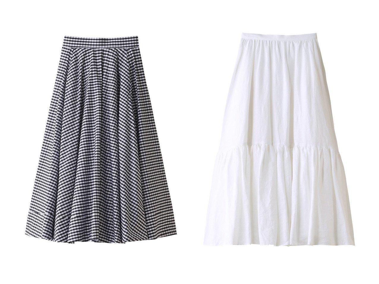 【MADISONBLUE/マディソンブルー】のリネンヘムギャザースカート&ギンガムチェックタックサーキュラースカート MADISONBLUEのおすすめ!人気、トレンド・レディースファッションの通販 おすすめで人気の流行・トレンド、ファッションの通販商品 メンズファッション・キッズファッション・インテリア・家具・レディースファッション・服の通販 founy(ファニー) https://founy.com/ ファッション Fashion レディースファッション WOMEN スカート Skirt ロングスカート Long Skirt 2021年 2021 2021 春夏 S/S SS Spring/Summer 2021 S/S 春夏 SS Spring/Summer ギャザー タイプライター フレア リネン ヴィンテージ 春 Spring |ID:crp329100000016897