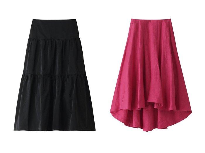 【MADISONBLUE/マディソンブルー】のポリエステルツイルティアードスカート&リネンツイルパネルフレアスカート MADISONBLUEのおすすめ!人気、トレンド・レディースファッションの通販 おすすめファッション通販アイテム レディースファッション・服の通販 founy(ファニー) ファッション Fashion レディースファッション WOMEN スカート Skirt ティアードスカート Tiered Skirts ロングスカート Long Skirt Aライン/フレアスカート Flared A-Line Skirts 2021年 2021 2021 春夏 S/S SS Spring/Summer 2021 S/S 春夏 SS Spring/Summer イタリア エレガント サテン ティアードスカート フォルム ロング 春 Spring |ID:crp329100000016898
