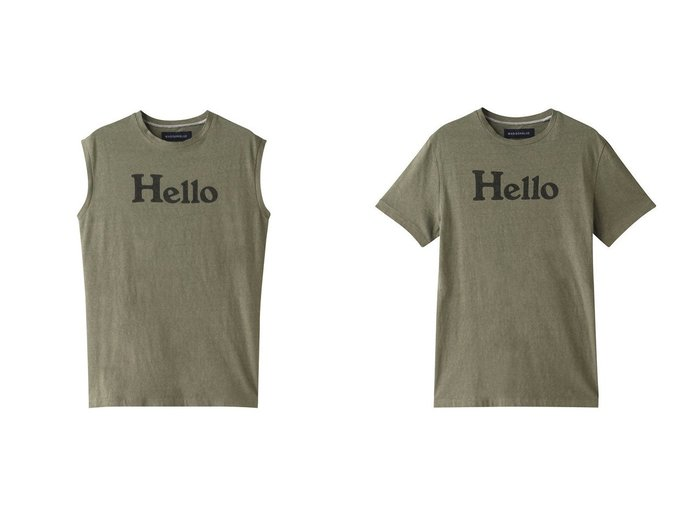 【MADISONBLUE/マディソンブルー】のHELLOノースリーブコットンTシャツ&HELLOクルーネックコットンTシャツ MADISONBLUEのおすすめ!人気、トレンド・レディースファッションの通販 おすすめファッション通販アイテム レディースファッション・服の通販 founy(ファニー) ファッション Fashion レディースファッション WOMEN トップス Tops Tshirt キャミソール / ノースリーブ No Sleeves シャツ/ブラウス Shirts Blouses ロング / Tシャツ T-Shirts カットソー Cut and Sewn 2021年 2021 2021 春夏 S/S SS Spring/Summer 2021 S/S 春夏 SS Spring/Summer キャミソール タンク ノースリーブ プリント 定番 Standard 春 Spring ショート ジャケット スリーブ ベーシック ロング 秋 Autumn/Fall  ID:crp329100000016904