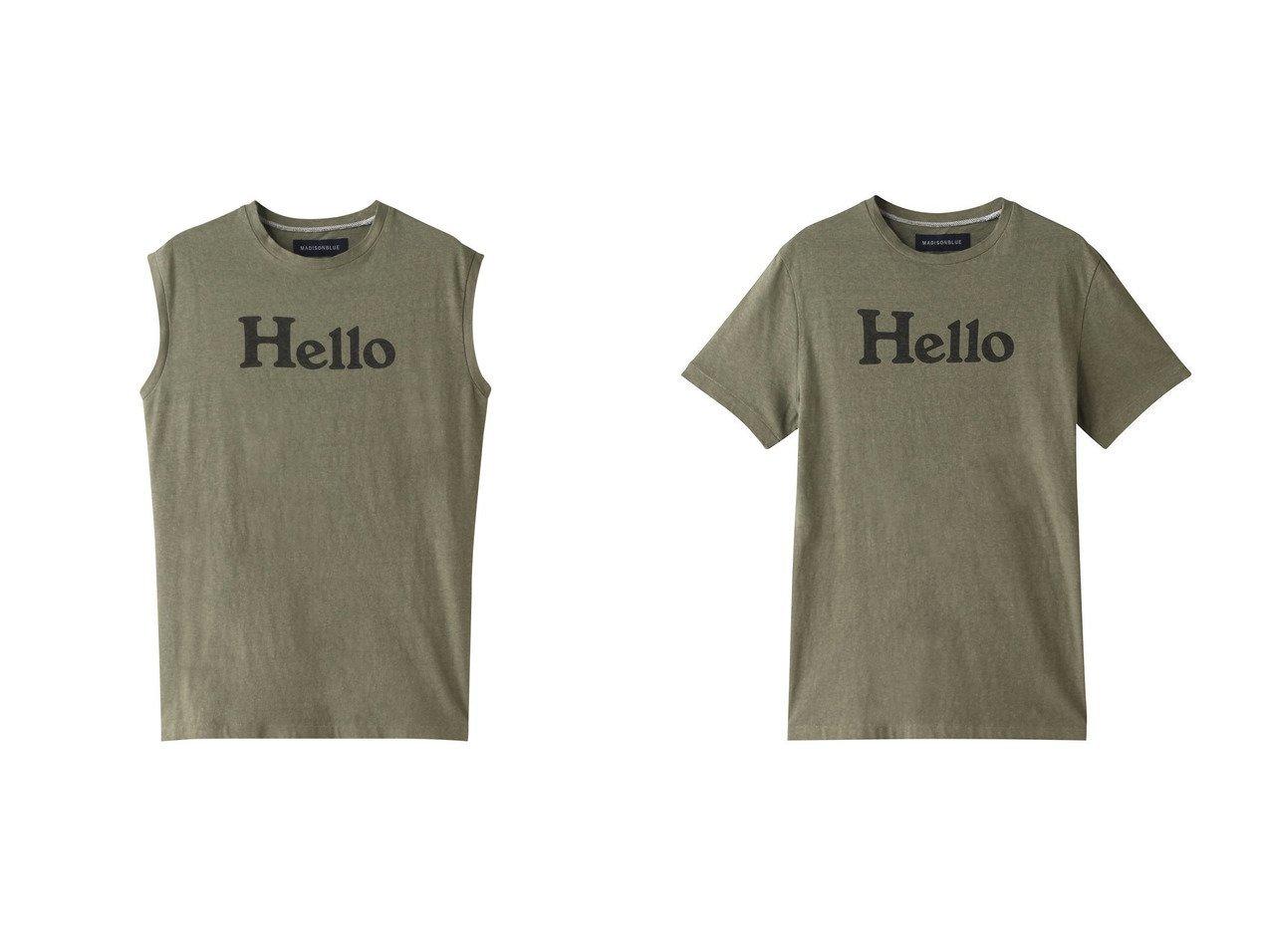 【MADISONBLUE/マディソンブルー】のHELLOノースリーブコットンTシャツ&HELLOクルーネックコットンTシャツ MADISONBLUEのおすすめ!人気、トレンド・レディースファッションの通販 おすすめで人気の流行・トレンド、ファッションの通販商品 メンズファッション・キッズファッション・インテリア・家具・レディースファッション・服の通販 founy(ファニー) https://founy.com/ ファッション Fashion レディースファッション WOMEN トップス Tops Tshirt キャミソール / ノースリーブ No Sleeves シャツ/ブラウス Shirts Blouses ロング / Tシャツ T-Shirts カットソー Cut and Sewn 2021年 2021 2021 春夏 S/S SS Spring/Summer 2021 S/S 春夏 SS Spring/Summer キャミソール タンク ノースリーブ プリント 定番 Standard 春 Spring ショート ジャケット スリーブ ベーシック ロング 秋 Autumn/Fall |ID:crp329100000016904