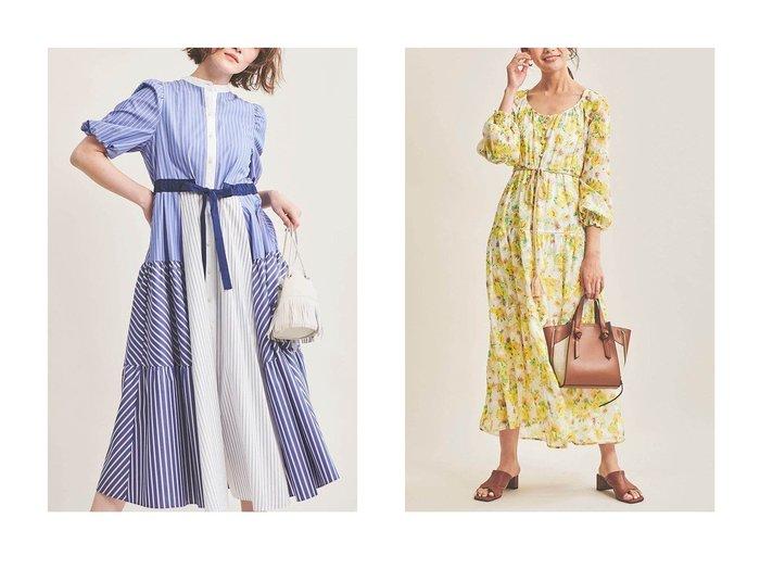 【The Virgnia/ザ ヴァージニア】のクレイジーストライプシャツワンピース&水彩フラワー柄ワンピース The Virgniaのおすすめ!人気、トレンド・レディースファッションの通販 おすすめファッション通販アイテム レディースファッション・服の通販 founy(ファニー) ファッション Fashion レディースファッション WOMEN ワンピース Dress シャツワンピース Shirt Dresses 2021年 2021 2021 春夏 S/S SS Spring/Summer 2021 S/S 春夏 SS Spring/Summer ジャケット ストライプ スリーブ デニム フェミニン リボン ロング 春 Spring |ID:crp329100000016921