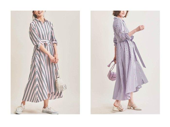 【The Virgnia/ザ ヴァージニア】のストライプシャツワンピース The Virgniaのおすすめ!人気、トレンド・レディースファッションの通販 おすすめファッション通販アイテム レディースファッション・服の通販 founy(ファニー) ファッション Fashion レディースファッション WOMEN ワンピース Dress シャツワンピース Shirt Dresses 2021年 2021 2021 春夏 S/S SS Spring/Summer 2021 S/S 春夏 SS Spring/Summer イタリア ストライプ フレア ロング 春 Spring |ID:crp329100000016922