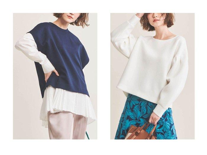 【The Virgnia/ザ ヴァージニア】のシャツプリーツレイヤードトップス&タックボリュームスリーブトップス The Virgniaのおすすめ!人気、トレンド・レディースファッションの通販 おすすめファッション通販アイテム レディースファッション・服の通販 founy(ファニー) ファッション Fashion レディースファッション WOMEN トップス Tops Tshirt シャツ/ブラウス Shirts Blouses ロング / Tシャツ T-Shirts カットソー Cut and Sewn ボリュームスリーブ / フリル袖 Volume Sleeve 2021年 2021 2021 春夏 S/S SS Spring/Summer 2021 S/S 春夏 SS Spring/Summer インナー サテン スリーブ プリーツ ベスト ロング 春 Spring |ID:crp329100000016923