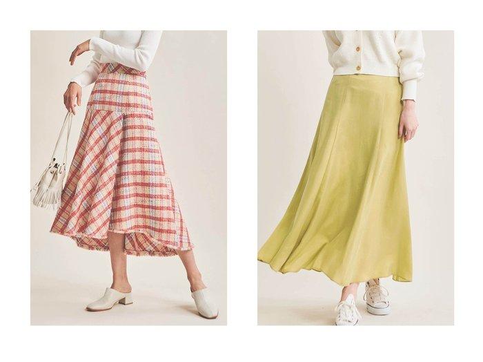 【The Virgnia/ザ ヴァージニア】のフィブリルサテンスカート&チェックツイードフレアスカート The Virgniaのおすすめ!人気、トレンド・レディースファッションの通販 おすすめファッション通販アイテム レディースファッション・服の通販 founy(ファニー) ファッション Fashion レディースファッション WOMEN スカート Skirt Aライン/フレアスカート Flared A-Line Skirts ロングスカート Long Skirt 2021年 2021 2021 春夏 S/S SS Spring/Summer 2021 S/S 春夏 SS Spring/Summer イタリア チェック ツイード フリンジ フレア ラグジュアリー ロング 春 Spring |ID:crp329100000016928