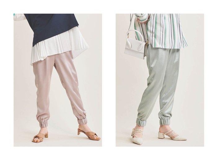 【The Virgnia/ザ ヴァージニア】のサテンジョガーパンツ The Virgniaのおすすめ!人気、トレンド・レディースファッションの通販 おすすめファッション通販アイテム レディースファッション・服の通販 founy(ファニー) ファッション Fashion レディースファッション WOMEN パンツ Pants 2021年 2021 2021 春夏 S/S SS Spring/Summer 2021 S/S 春夏 SS Spring/Summer サテン トレンド ドレープ リラックス 春 Spring |ID:crp329100000016931