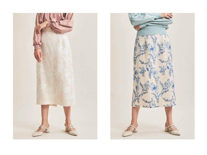 【The Virgnia/ザ ヴァージニア】のフラワーカットジャガードタイトスカート The Virgniaのおすすめ!人気、トレンド・レディースファッションの通販 おすすめファッション通販アイテム レディースファッション・服の通販 founy(ファニー) ファッション Fashion レディースファッション WOMEN スカート Skirt ロングスカート Long Skirt 2021年 2021 2021 春夏 S/S SS Spring/Summer 2021 S/S 春夏 SS Spring/Summer カットジャガード スリット タイトスカート ミックス ロング 春 Spring |ID:crp329100000016934