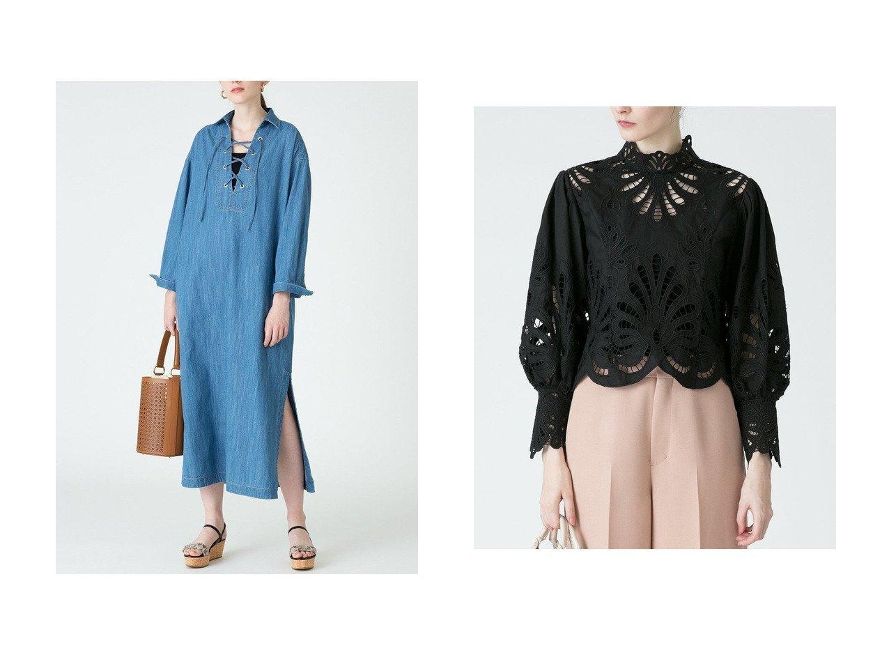 【allureville/アルアバイル】の【Loulou Willoughby】オールシシュウブラウス&デニムカフタンドレス allurevilleのおすすめ!人気、トレンド・レディースファッションの通販 おすすめで人気の流行・トレンド、ファッションの通販商品 メンズファッション・キッズファッション・インテリア・家具・レディースファッション・服の通販 founy(ファニー) https://founy.com/ ファッション Fashion レディースファッション WOMEN トップス Tops Tshirt シャツ/ブラウス Shirts Blouses ワンピース Dress ドレス Party Dresses 2021年 2021 2021 春夏 S/S SS Spring/Summer 2021 S/S 春夏 SS Spring/Summer ショート スリーブ バランス パーティ ロング ワーク 春 Spring |ID:crp329100000016950