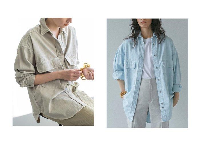 【GALLARDAGALANTE/ガリャルダガランテ】の【YANUK】別注CPOデニムシャツ GALLARDAGALANTEのおすすめ!人気、トレンド・レディースファッションの通販 おすすめファッション通販アイテム レディースファッション・服の通販 founy(ファニー) ファッション Fashion レディースファッション WOMEN トップス Tops Tshirt シャツ/ブラウス Shirts Blouses 2021年 2021 2021 春夏 S/S SS Spring/Summer 2021 S/S 春夏 SS Spring/Summer シンプル スリーブ デニム ロング ワイヤー 別注 春 Spring |ID:crp329100000016955