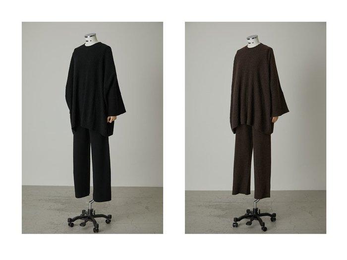 【RIM.ARK/リムアーク】のニットセットアップ おすすめ!人気、トレンド・レディースファッションの通販 おすすめファッション通販アイテム レディースファッション・服の通販 founy(ファニー) ファッション Fashion レディースファッション WOMEN トップス Tops Tshirt ニット Knit Tops プルオーバー Pullover セットアップ ビッグ |ID:crp329100000016963