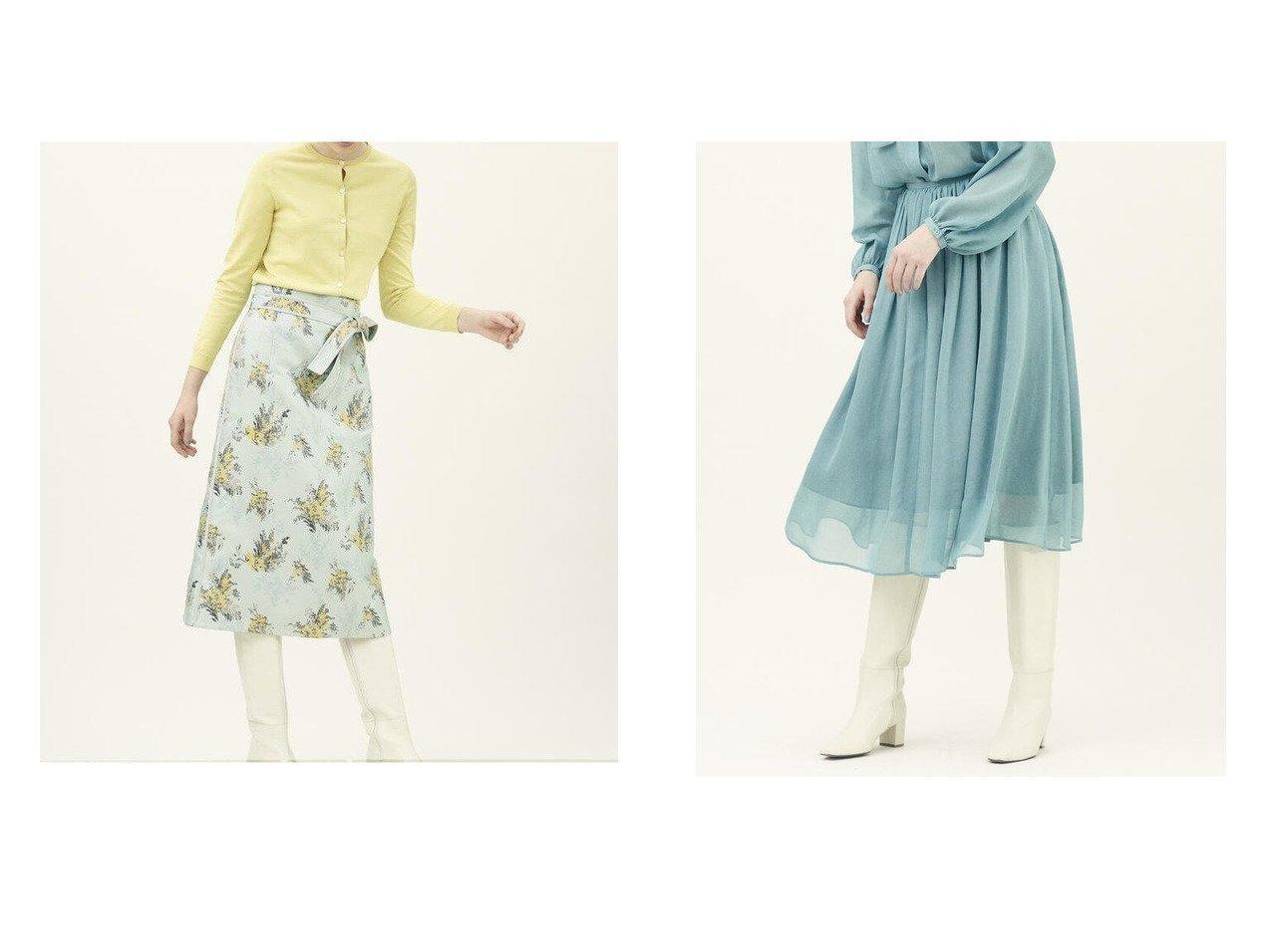 【TOMORROWLAND BALLSEY/トゥモローランド ボールジー】のミモザジャカード Iラインミディスカート&ナイアガラシフォン ギャザーミディスカート TOMORROWLANDのおすすめ!人気、トレンド・レディースファッションの通販 おすすめで人気の流行・トレンド、ファッションの通販商品 メンズファッション・キッズファッション・インテリア・家具・レディースファッション・服の通販 founy(ファニー) https://founy.com/ ファッション Fashion レディースファッション WOMEN スカート Skirt Aライン/フレアスカート Flared A-Line Skirts NEW・新作・新着・新入荷 New Arrivals エアリー エレガント ギャザー シフォン バランス フレア 2021年 2021 2021 春夏 S/S SS Spring/Summer 2021 S/S 春夏 SS Spring/Summer ジャカード タイトスカート モチーフ 再入荷 Restock/Back in Stock/Re Arrival 春 Spring  ID:crp329100000016971