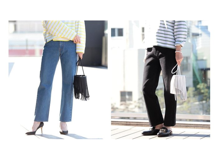 【Demi-Luxe BEAMS/デミルクス ビームス】の別注 UNION BLUE デニム&別注 UNION BLACK デニム 別注・限定・コラボなど、おすすめ!人気トレンド・レディースファッション通販 おすすめファッション通販アイテム レディースファッション・服の通販 founy(ファニー) ファッション Fashion レディースファッション WOMEN パンツ Pants デニムパンツ Denim Pants ヴィンテージ ジーンズ ストレート デニム 人気 ハンド バランス フリンジ 別注 モダン 再入荷 Restock/Back in Stock/Re Arrival |ID:crp329100000016974