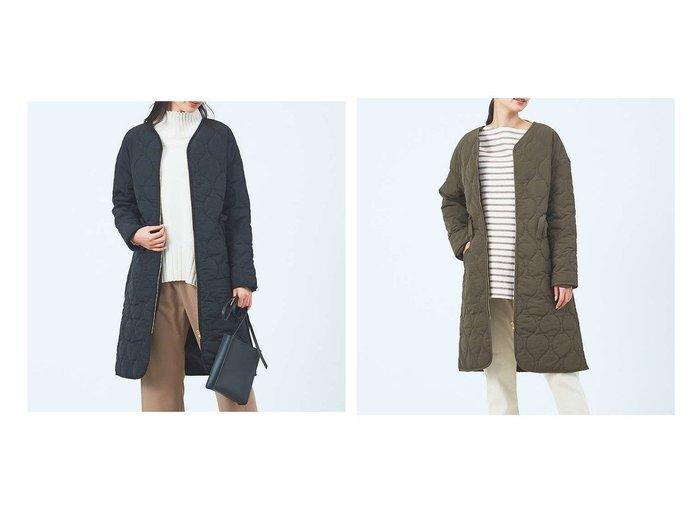 【collex/コレックス】の《WEB限定》キルティングノーカラーコート 別注・限定・コラボなど、おすすめ!人気トレンド・レディースファッション通販 おすすめファッション通販アイテム レディースファッション・服の通販 founy(ファニー) ファッション Fashion レディースファッション WOMEN アウター Coat Outerwear コート Coats NEW・新作・新着・新入荷 New Arrivals フィット 羽織 |ID:crp329100000016994