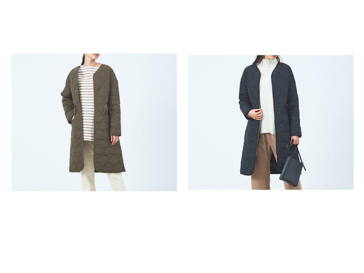 【collex/コレックス】の《WEB限定》キルティングノーカラーコート 別注・限定・コラボなど、おすすめ!人気トレンド・レディースファッション通販 おすすめで人気の流行・トレンド、ファッションの通販商品 メンズファッション・キッズファッション・インテリア・家具・レディースファッション・服の通販 founy(ファニー) https://founy.com/ ファッション Fashion レディースファッション WOMEN アウター Coat Outerwear コート Coats ジャケット Jackets NEW・新作・新着・新入荷 New Arrivals ジャケット フィット 羽織  ID:crp329100000017030