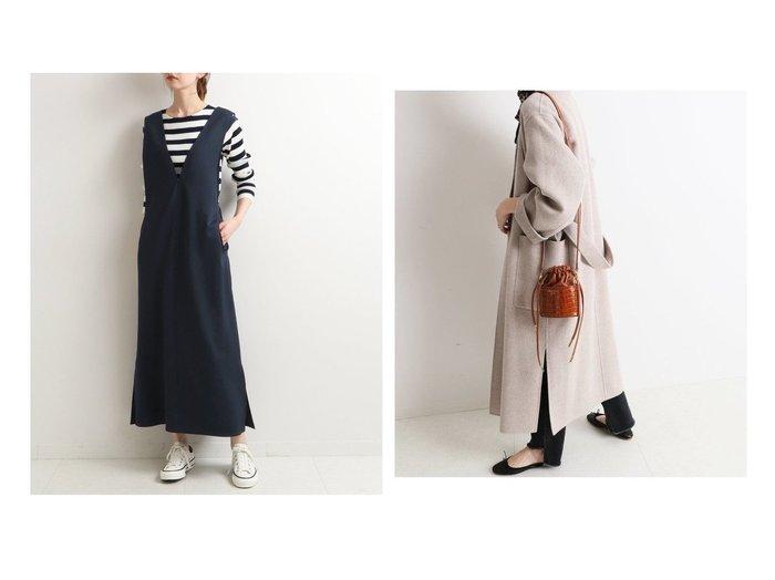 【SLOBE IENA/スローブ イエナ】のHAMILTON ダブルフェイスウールロングコート&【IENA/イエナ】のカットツイルワンピース IENAのおすすめ!人気、トレンド・レディースファッションの通販 おすすめファッション通販アイテム レディースファッション・服の通販 founy(ファニー) ファッション Fashion レディースファッション WOMEN ワンピース Dress アウター Coat Outerwear コート Coats チェスターコート Top Coat 2020年 2020 2020-2021 秋冬 A/W AW Autumn/Winter / FW Fall-Winter 2020-2021 A/W 秋冬 AW Autumn/Winter / FW Fall-Winter エレガント カットソー ボックス インナー ショート スリット チェスターコート チェック |ID:crp329100000017147