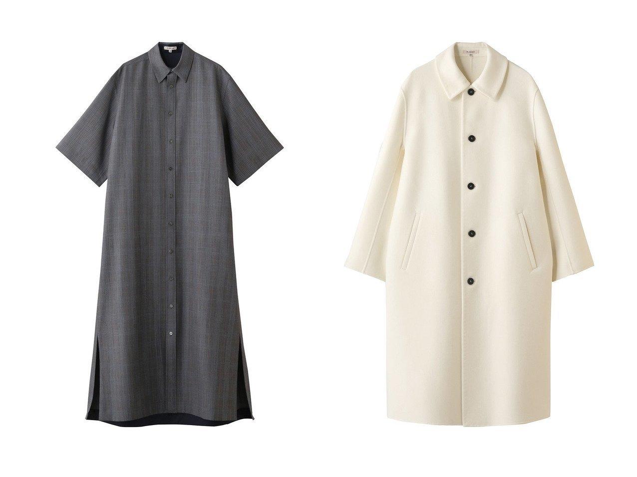 【BLAMINK/ブラミンク】のウールモヘヤチェックレギュラーカラーショートスリーブワンピース&ウールカシミヤステンカラーコート BLAMINKのおすすめ!人気、トレンド・レディースファッションの通販  おすすめで人気の流行・トレンド、ファッションの通販商品 メンズファッション・キッズファッション・インテリア・家具・レディースファッション・服の通販 founy(ファニー) https://founy.com/ ファッション Fashion レディースファッション WOMEN ワンピース Dress アウター Coat Outerwear コート Coats 2021年 2021 2021 春夏 S/S SS Spring/Summer 2021 S/S 春夏 SS Spring/Summer チェック モヘア レギンス ロング ワイド 春 Spring |ID:crp329100000017171