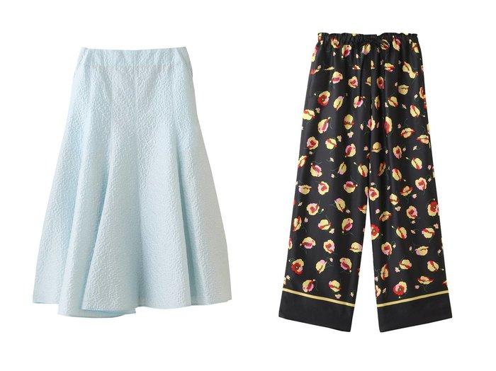 【BLAMINK/ブラミンク】のコットンシルクナイロンバックジップフレアスカート&シルクフラワープリントドロストパンツ BLAMINKのおすすめ!人気、トレンド・レディースファッションの通販  おすすめファッション通販アイテム レディースファッション・服の通販 founy(ファニー) ファッション Fashion レディースファッション WOMEN スカート Skirt Aライン/フレアスカート Flared A-Line Skirts ロングスカート Long Skirt バッグ Bag パンツ Pants 2021年 2021 2021 春夏 S/S SS Spring/Summer 2021 S/S 春夏 SS Spring/Summer フィット フォルム フレア ロング 春 Spring |ID:crp329100000017175