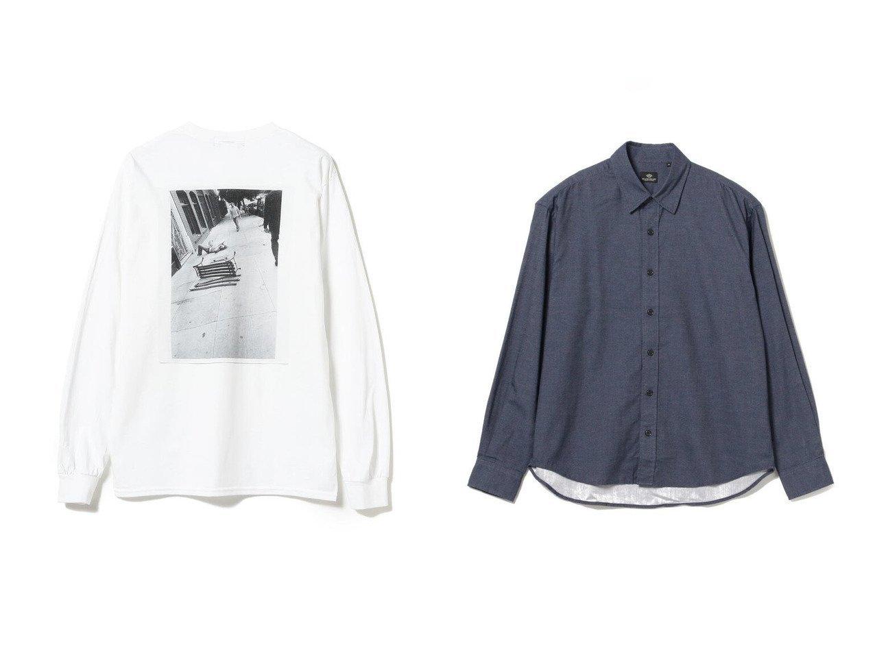 【BEAMS / MEN/ビームス】のGreg Hunt × BEAMS T 1997 ロングスリーブ Tシャツ&【BEAMS HEART / MEN/ビームス ハート】のソリッド レギュラーカラー シャツ 【MEN】BEAMSのおすすめ!人気トレンド・男性、メンズファッションの通販 おすすめで人気の流行・トレンド、ファッションの通販商品 メンズファッション・キッズファッション・インテリア・家具・レディースファッション・服の通販 founy(ファニー) https://founy.com/ ファッション Fashion メンズファッション MEN トップス Tops Tshirt Men シャツ Shirts キャンバス グラフィック スリーブ リアル ロング ワーク NEW・新作・新着・新入荷 New Arrivals シンプル トレンド ビッグ ポケット レギュラー 長袖 |ID:crp329100000017273
