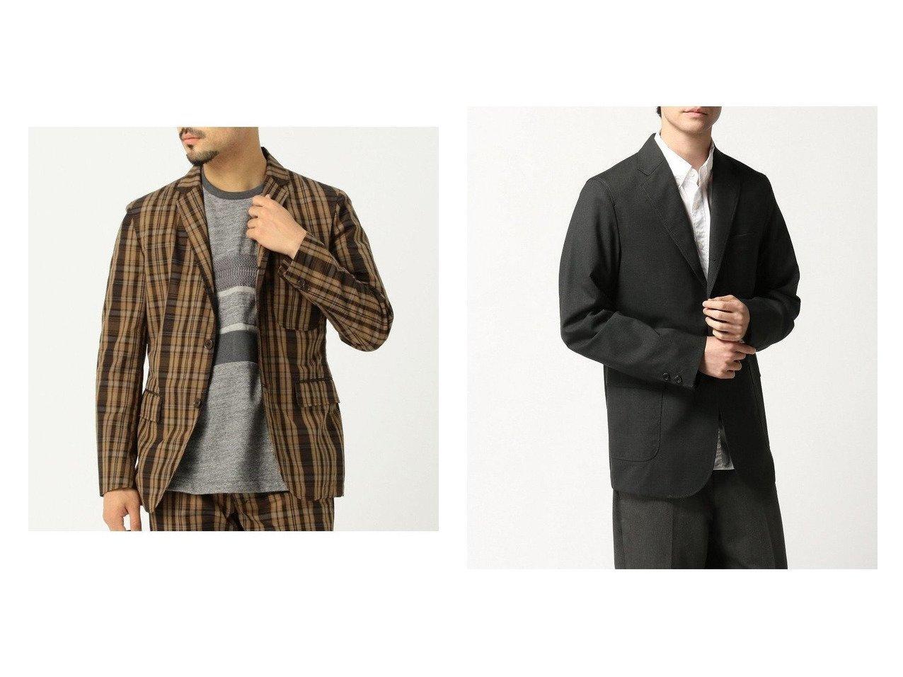 【BEAMS / MEN/ビームス】のTUBE × 別注 マドラス チェック 3B ジャケット&コンバットウール 3Bジャケット 【MEN】BEAMSのおすすめ!人気トレンド・男性、メンズファッションの通販 おすすめで人気の流行・トレンド、ファッションの通販商品 メンズファッション・キッズファッション・インテリア・家具・レディースファッション・服の通販 founy(ファニー) https://founy.com/ ファッション Fashion メンズファッション MEN NEW・新作・新着・新入荷 New Arrivals ジャケット チェック チューブ フラップ ベーシック ポケット 別注 クラシック シンプル ストレッチ スポーツ スリーブ ハーフ パッチ ライニング |ID:crp329100000017278