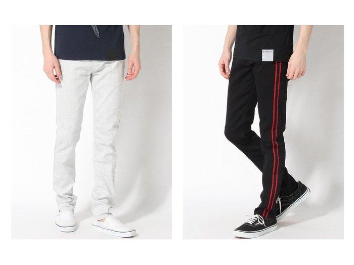 【GUESS / MEN/ゲス】のSAMMY SKINNY&STRIPED MODERN SKINNY 【MEN】GUESSのおすすめ!人気トレンド・男性、メンズファッションの通販 おすすめ人気トレンドファッション通販アイテム 人気、トレンドファッション・服の通販 founy(ファニー)  ファッション Fashion メンズファッション MEN ボトムス Bottoms Men NEW・新作・新着・新入荷 New Arrivals シンプル ジーンズ デニム ポケット |ID:crp329100000017295