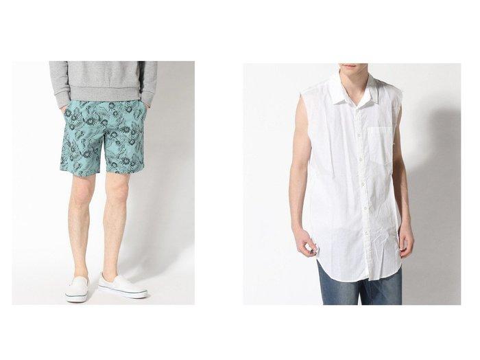 【GUESS / MEN/ゲス】のPAUL POPLIN INK PALM SHORT&SL SIDE ZIP VOILE SHIRT 【MEN】GUESSのおすすめ!人気トレンド・男性、メンズファッションの通販 おすすめ人気トレンドファッション通販アイテム 人気、トレンドファッション・服の通販 founy(ファニー)  ファッション Fashion メンズファッション MEN ボトムス Bottoms Men ハーフ / ショートパンツ Short Pants NEW・新作・新着・新入荷 New Arrivals ショート ジーンズ ボタニカル リゾート 春 Spring インナー カットオフ キャミソール ノースリーブ |ID:crp329100000017297