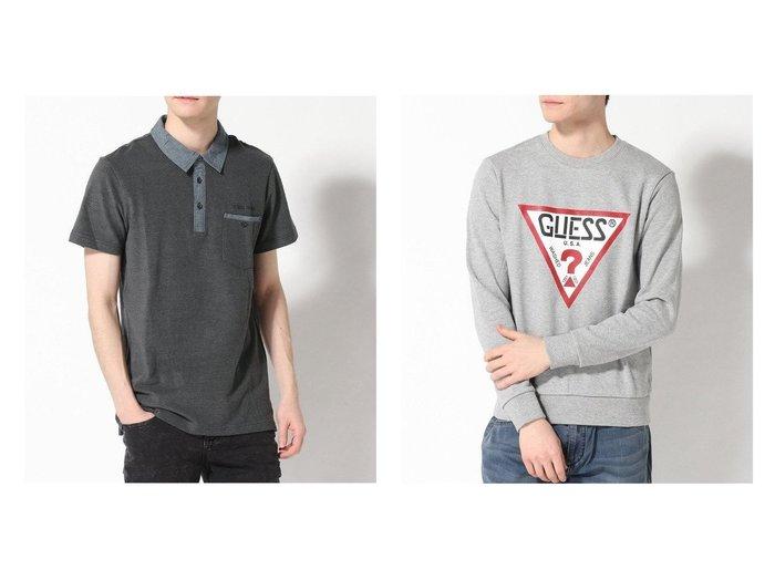 【GUESS / MEN/ゲス】のTriangle Logo Sweat&LINUS SHORT-SLEEVE PIQUE POLO 【MEN】GUESSのおすすめ!人気トレンド・男性、メンズファッションの通販 おすすめファッション通販アイテム レディースファッション・服の通販 founy(ファニー) ファッション Fashion メンズファッション MEN トップス Tops Tshirt Men シャツ Shirts ポロシャツ Polo Shirts NEW・新作・新着・新入荷 New Arrivals インナー カットソー ジャケット スタイリッシュ フィット ポケット ポロシャツ スウェット フロント |ID:crp329100000017303