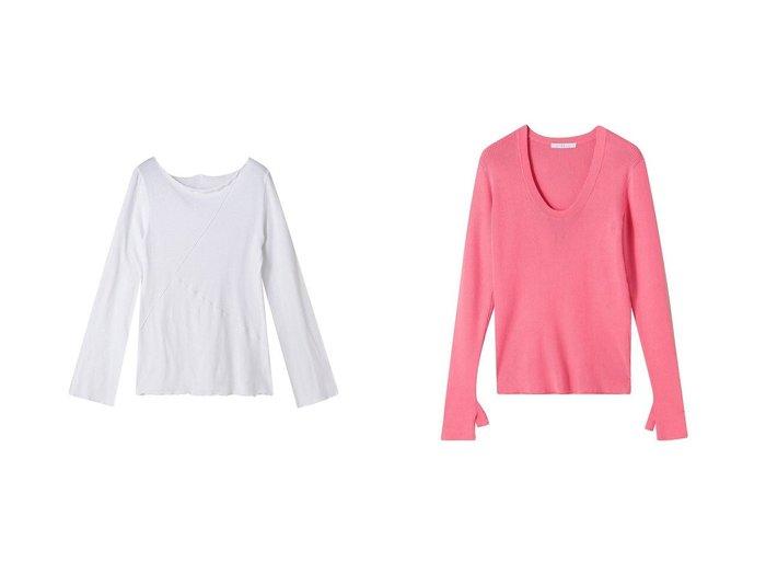 【ETRE TOKYO/エトレトウキョウ】のメローデザイントップス&フィンガーホールリブニットトップス ETRE TOKYOのおすすめ!人気、トレンド・レディースファッションの通販  おすすめファッション通販アイテム レディースファッション・服の通販 founy(ファニー) ファッション Fashion レディースファッション WOMEN トップス Tops Tshirt シャツ/ブラウス Shirts Blouses ロング / Tシャツ T-Shirts カットソー Cut and Sewn ニット Knit Tops プルオーバー Pullover スリーブ ネップ フロント リネン ルーズ ロング シンプル 抗菌 |ID:crp329100000017443