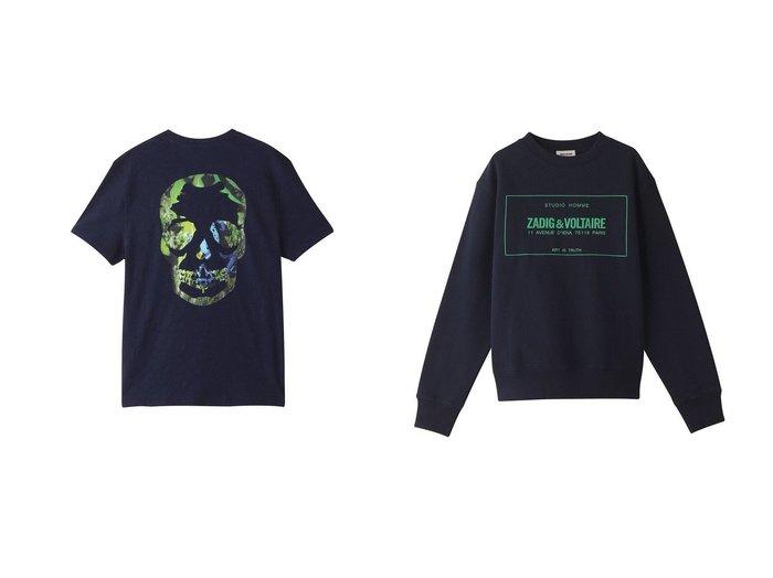 【ZADIG & VOLTAIRE / MEN/ザディグ エ ヴォルテール】の【MEN】SIMBA MO NEW BLASON SWEATSHIRT PRINT DEVANT ニット&【MEN】STOCKHOLM FLAMME TDM PHOTOPRINT T-SHIRT POCHE POIT Tシャツ 【MEN】ZADIG & VOLTAIREのおすすめ!人気トレンド・男性、メンズファッションの通販 おすすめファッション通販アイテム レディースファッション・服の通販 founy(ファニー) ファッション Fashion メンズファッション MEN トップス Tops Tshirt Men シャツ Shirts ニット Knit Tops パーカ Sweats 2021年 2021 2021 春夏 S/S SS Spring/Summer 2021 S/S 春夏 SS Spring/Summer ショート スリーブ プリント モチーフ 半袖 春 Spring |ID:crp329100000017446