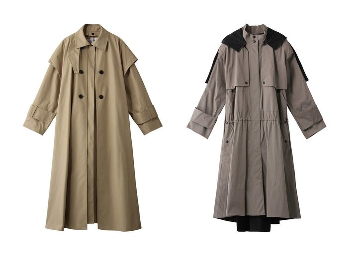 【ADORE/アドーア】のレイヤードコート&ドライナイロンコート ADOREのおすすめ!人気、トレンド・レディースファッションの通販  おすすめファッション通販アイテム インテリア・キッズ・メンズ・レディースファッション・服の通販 founy(ファニー) https://founy.com/ ファッション Fashion レディースファッション WOMEN アウター Coat Outerwear コート Coats 2021年 2021 2021 春夏 S/S SS Spring/Summer 2021 S/S 春夏 SS Spring/Summer シンプル ベスト ロング 春 Spring |ID:crp329100000017455