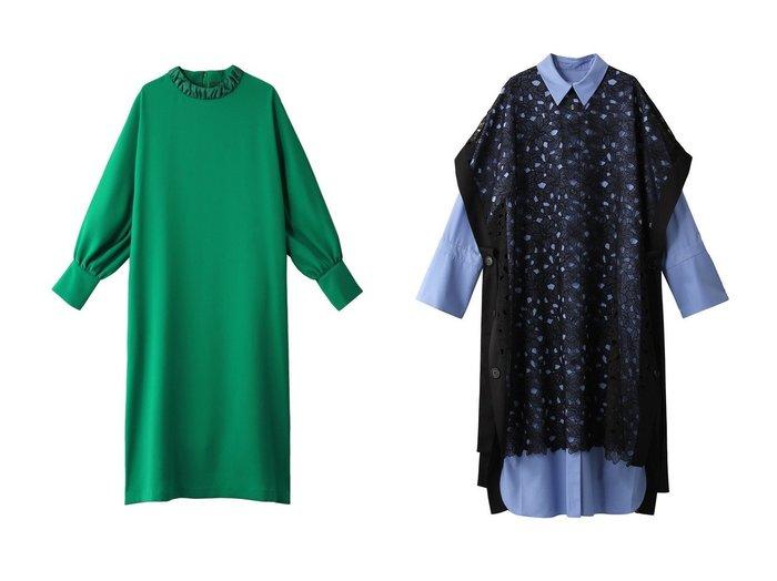 【ADORE/アドーア】のイージージョーゼットワンピース&ファインコードレースワンピース ADOREのおすすめ!人気、トレンド・レディースファッションの通販  おすすめファッション通販アイテム インテリア・キッズ・メンズ・レディースファッション・服の通販 founy(ファニー) https://founy.com/ ファッション Fashion レディースファッション WOMEN ワンピース Dress 2021年 2021 2021 春夏 S/S SS Spring/Summer 2021 S/S 春夏 SS Spring/Summer ジョーゼット フォルム 春 Spring |ID:crp329100000017458